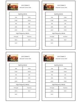 Reading Street Unit 5 Week 5 Spelling Packet