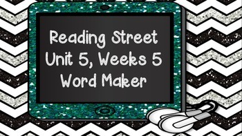 Phonics Word Maker Kindergarten - Aligned to Reading Stree