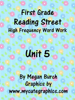 Reading Street Unit 5 Word Work
