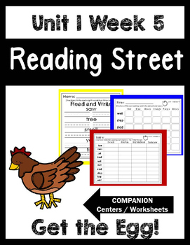 Reading Street. Unit 1 Week 5. Get the Egg! Centers/Focus