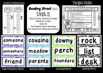 Reading Street  Unit Two Resources Grade 2