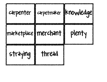 Reading Street Vocabulary Matching Game- Theme 1 What About Me?