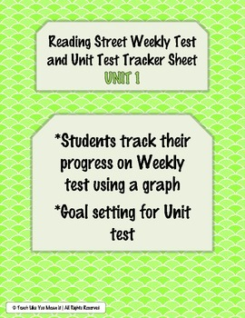 Reading Street Weekly and Unit Test Tracking Sheets- UNIT 1