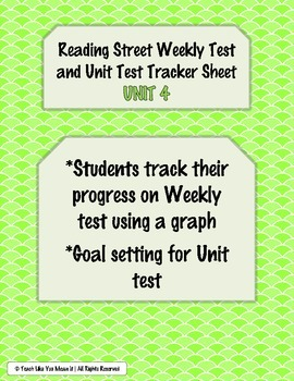 Reading Street Weekly and Unit Test Tracking Sheets- UNIT 4