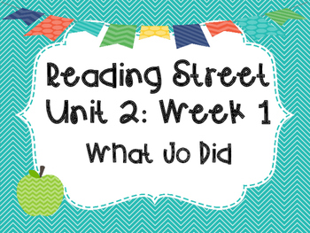 Reading Street: What Jo Did Posters & Activities