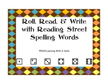 Reading Street FIRST GRADE Spelling Word Work UNITS 1-5 ~