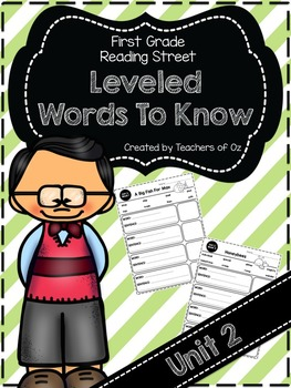 Reading Street Words To Know UNIT 2