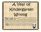 Reading Street Writing Prompts for Kindergarten (2013)