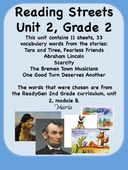 Reading Streets Grade 2 Unit 2 Vocabulary Words
