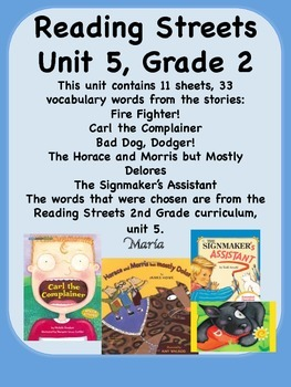 Reading Streets Grade 2 Unit 5 Vocabulary Words