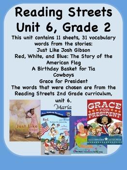 Reading Streets Grade 2 Unit 6 Vocabulary Words