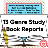 Book Reports ALL Genres and Anchor Chart
