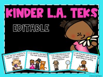 Reading TEKs Posters for Kindergarten
