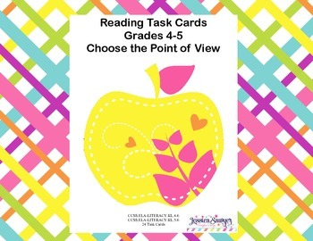 Reading Task Cards Point of View  CCSS.ELA-LITERACY.RL.4.6