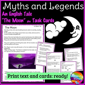 Myth Legend from ENGLAND Text & Task Cards Making Connecti