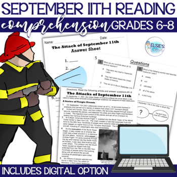 September 11th Reading Comprehension - Informational Text
