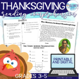 Thanksgiving Reading Comprehension - Informational Text *