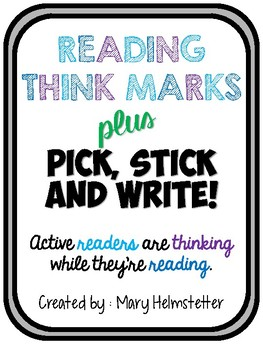 Reading Think Marks // Active and Engaged Reading!