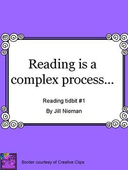 FREE Reading Tidbit #1: Reading is a Complex Process