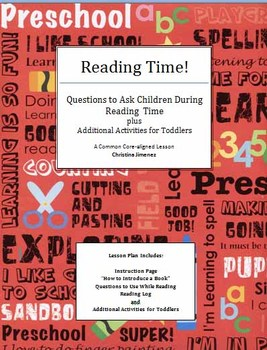 Reading Time! Questions to Ask While Reading with Toddlers