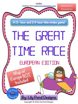 Reading Time Review Game - The Great Time Race (Europe- in