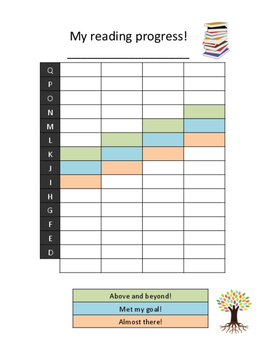 Reading Tracker for Second Grade