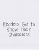 Reading Units of Study Anchor Chart: Readers Get To Know C
