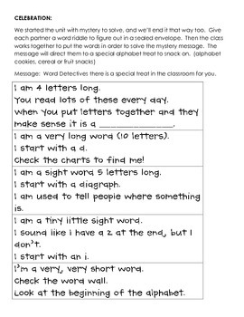 Reading Units of Study: Word Detectives Use All They Know