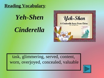 Reading Vocabulary Yeh-Shen  Cinderella