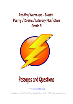 Reading Warm-ups - Blasts! Poetry / Drama / Literary Nonfi