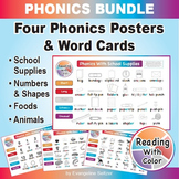 Reading With Color PHONICS BUNDLE: Four Phonics Posters &