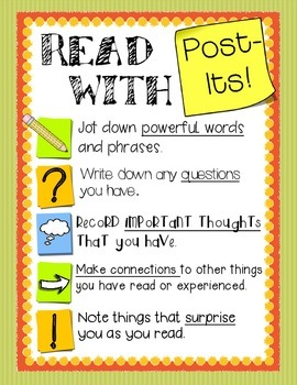 Reading With Post Its!  - A useful tool for Independent Re