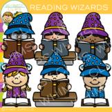 Wizards Reading Clip Art