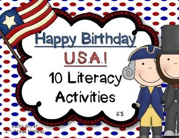 Reading Wonders 1st Grade Happy Birthday USA! 6.5 {10 Lite