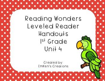 Reading Wonders 1st Grade Leveled Reader Handouts Unit 4