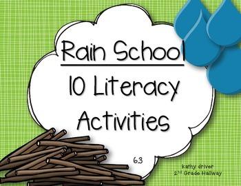 Reading Wonders 1st Grade Rain School 6.3 {10 Literacy Act