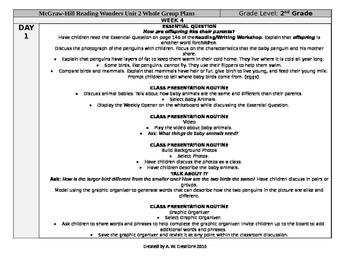 Reading Wonders 2nd Grade UNIT 2 WEEK 4 Whole Group Plans