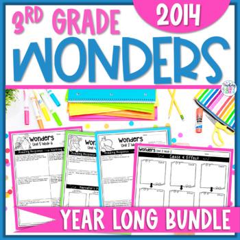 Reading Wonders 3rd Gr Const. Response Bundle Pk Unit 1-6