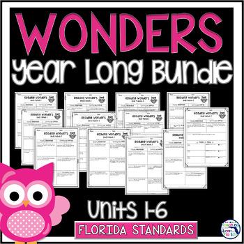 Reading Wonders 3rd Gr Const. Response Bundle Pk Unit 1-6 - LAFS
