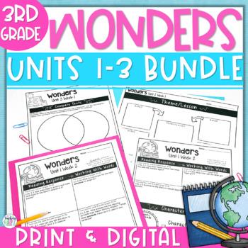 Reading Wonders 3rd Gr Const.Response Bundle Pk Unit 1-3 -