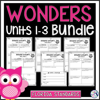 Reading Wonders 3rd Gr Construct. Response Bundle Pk Unit