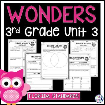Reading Wonders 3rd Grade Constructed Response Unit 3 - Fl