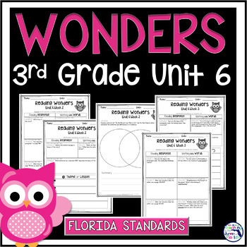 Reading Wonders 3rd Grade Constructed Response Unit 6 - Fl