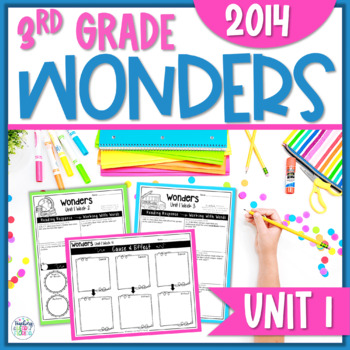 Reading Wonders 3rd Grade Constructed Response Unit 1 - Co