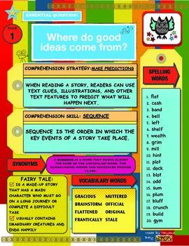 Reading Wonders 4th Grade Unit 1 Focus Wall