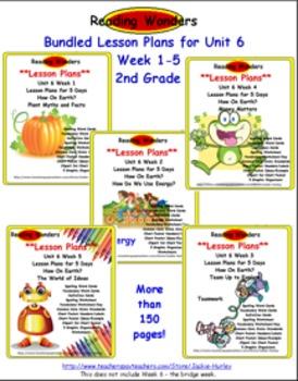 *Reading Wonders: Bundled Lesson Plans Unit 6 Week 1-5