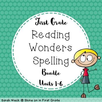Reading Wonders First Grade Spelling Packet, Units 1-6 Bundle