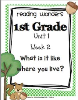 Reading Wonders First Grade- Unit 1 **Bundle**