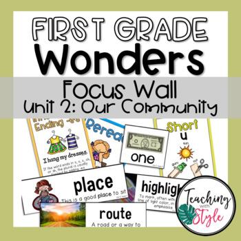 Reading Wonders First Grade Unit 2 Focus Wall