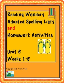 Reading Wonders First Grade Unit 6 Adapted Spelling and Ho